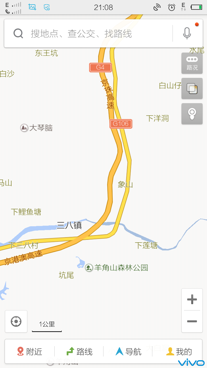 广东到湖南到襄阳的某地天气地图